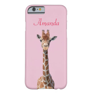 Cute giraffe face barely there iPhone 6 case