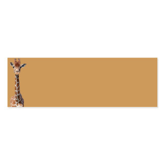 Cute giraffe face pack of skinny business cards