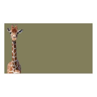 Cute giraffe face pack of standard business cards