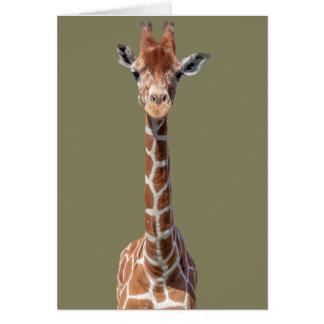 Cute giraffe face greeting card
