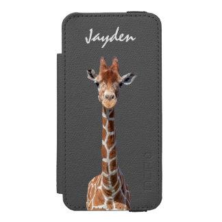 Cute giraffe face incipio watson™ iPhone 5 wallet case