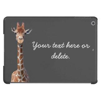 Cute giraffe face iPad air covers