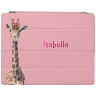 Cute giraffe face iPad cover