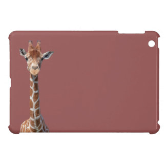 Cute giraffe face iPad mini case