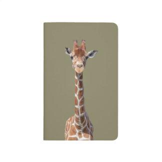 Cute giraffe face journals
