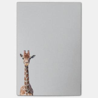 Cute giraffe face post-it® notes