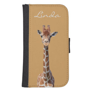Cute giraffe face samsung s4 wallet case
