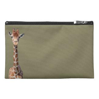 Cute giraffe face travel accessory bags