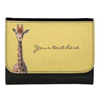 Cute giraffe face women's wallet