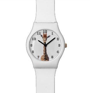 Cute giraffe face wristwatches