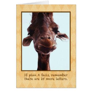 Cute Giraffe Greeting Card