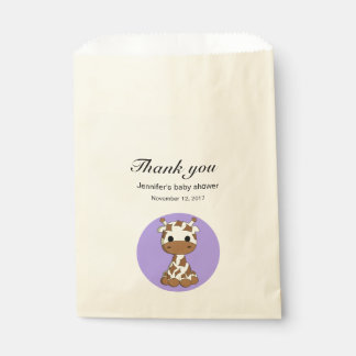 Cute giraffe kawaii cartoon baby shower thank you favour bags