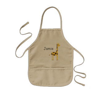 Cute Giraffe Kids Apron