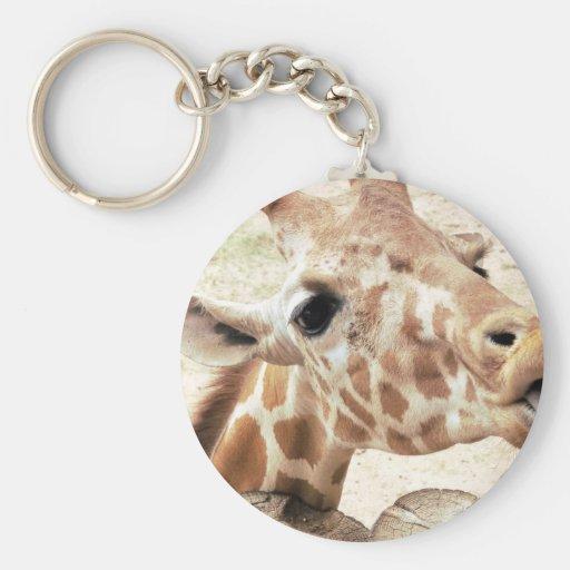 Cute Giraffe Licking Keychains