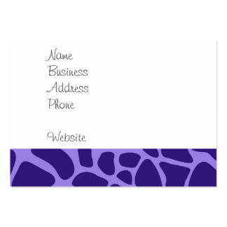 Cute Giraffe on Purple Zoo Animals Pattern Print Pack Of Chubby Business Cards