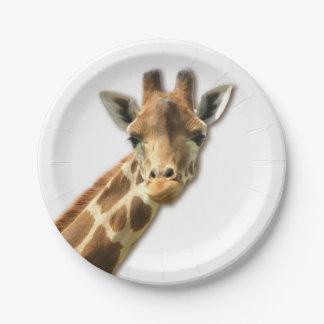 Cute Giraffe Paper Plate