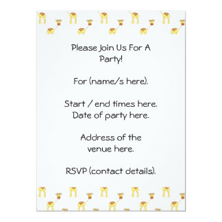 Cute Giraffe Pattern. 17 Cm X 22 Cm Invitation Card