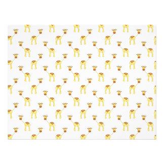 Cute Giraffe Pattern. 21.5 Cm X 28 Cm Flyer