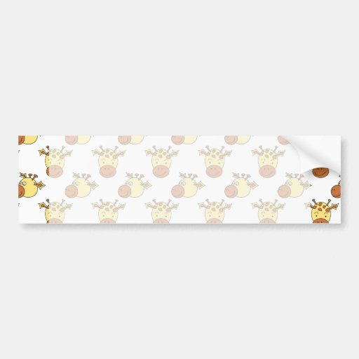 Cute Giraffe Pattern. Bumper Stickers