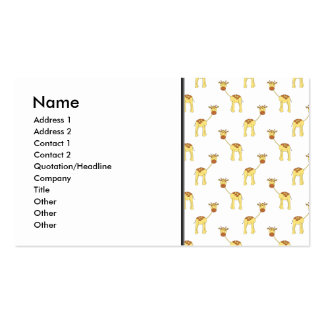 Cute Giraffe Pattern Business Card