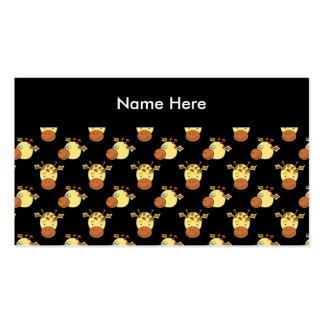 Cute Giraffe Pattern. Business Card