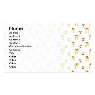 Cute Giraffe Pattern Business Card Template