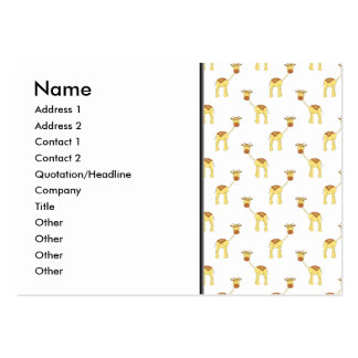 Cute Giraffe Pattern Business Card Templates
