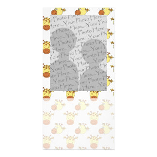 Cute Giraffe Pattern. Card