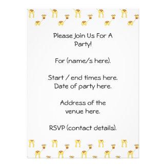 Cute Giraffe Pattern Custom Invite