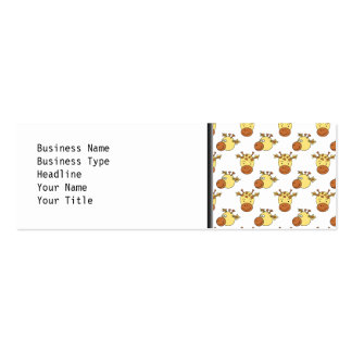 Cute Giraffe Pattern. Pack Of Skinny Business Cards