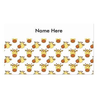 Cute Giraffe Pattern. Pack Of Standard Business Cards
