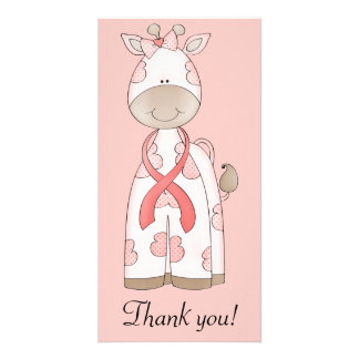 Cute Giraffe Photo Greeting Card
