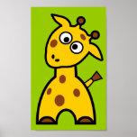 Cute Giraffe Poster