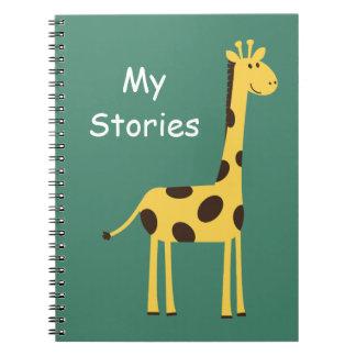 Cute Giraffe Spiral Notebook
