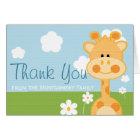 CUTE GIRAFFE THANK YOU CARD