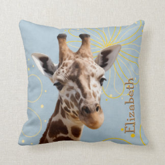 Cute Giraffe Tilting Head Throw Pillow