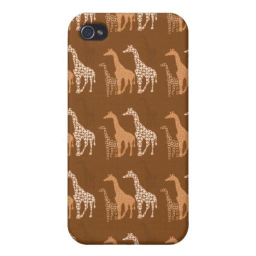 Cute Giraffe Trio Pern~ Unique Wildlife  iPhone 4/4S Cases