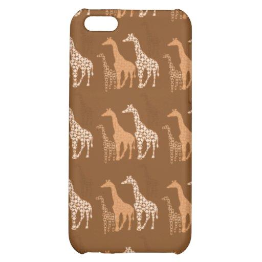 Cute Giraffe Trio Pern~ Unique Wildlife  iPhone 5C Cover