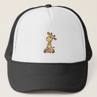 CUTE GIRAFFE TRUCKER HAT