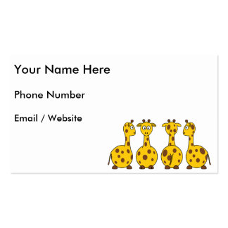 Cute Giraffe, Wild Animal Double-Sided Standard Business Cards (Pack Of 100)