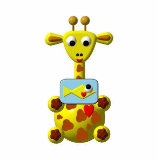 Cute Giraffe with Goldfish Photo Cut Out
