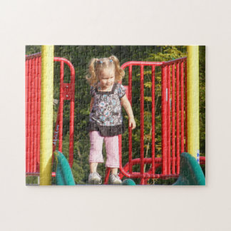 Cute Girl at Top of Slide Puzzle