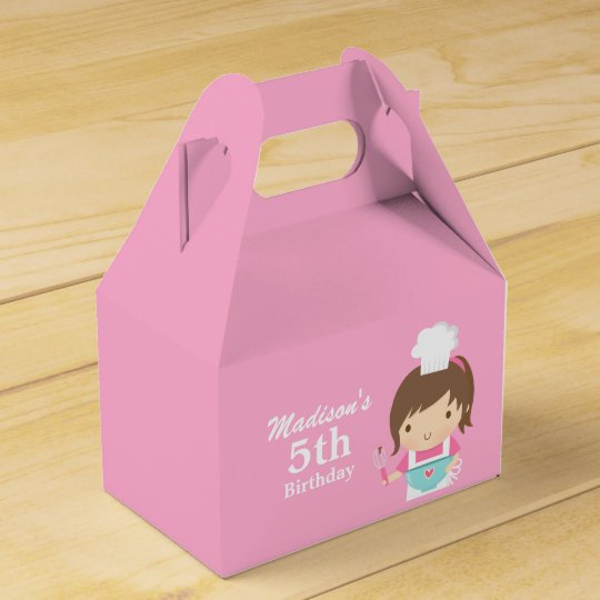 Cute Girl Chef Cooking Baking Birthday Party Favour