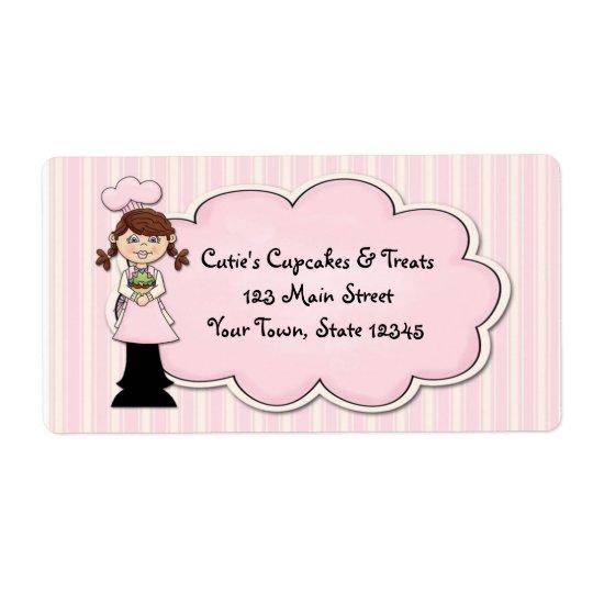 Cute Girl Chef, Cupcake, Pink