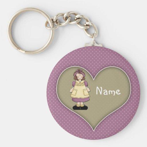 Cute Girl Design Key Chain