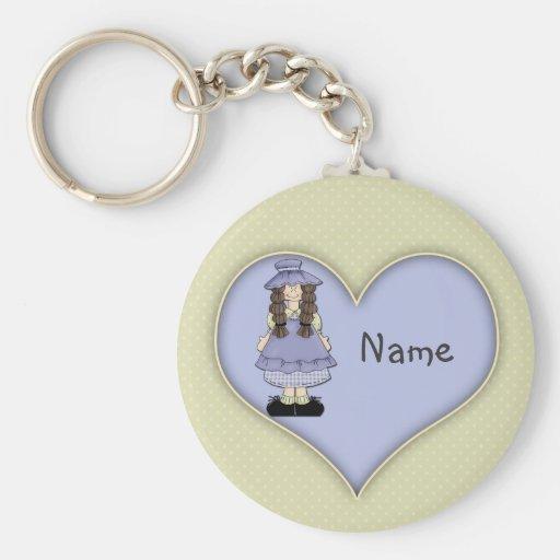 Cute Girl Design Keychain
