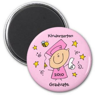 Cute Girl Grad Custom 6 Cm Round Magnet