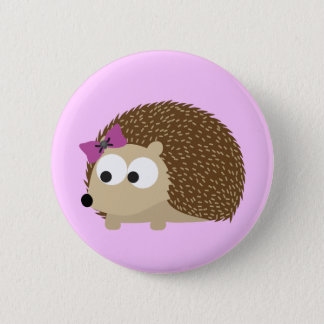 Cute Girl Hedgehog 6 Cm Round Badge