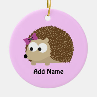 Cute Girl Hedgehog Christmas Ornament