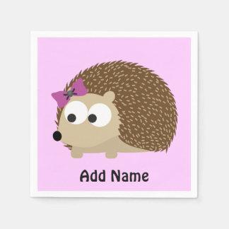 Cute Girl Hedgehog Disposable Serviette